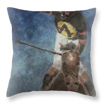 At The Finish Line Throw Pillow by Arline Wagner