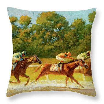 At The Finish Line Throw Pillow