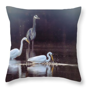 At The Fishing Pond Throw Pillow