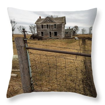 Throw Pillow featuring the photograph At The Gate  by Aaron J Groen