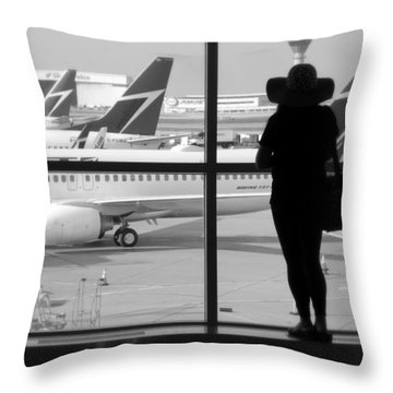 At The Gate Throw Pillow by Valentino Visentini