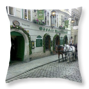 At The Golden Dragon's House Throw Pillow
