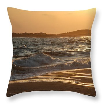 At The Golden Hour Throw Pillow