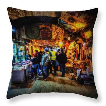 At The Grand Bazaar Throw Pillow by Steve Taylor