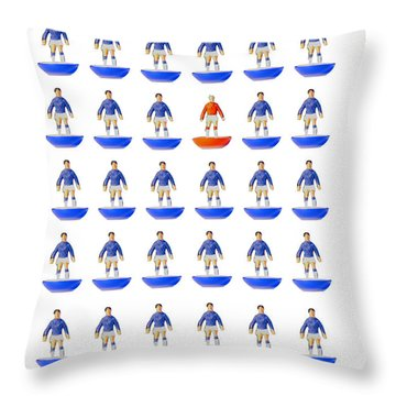 At The Heart Of My Fantasy Team Throw Pillow