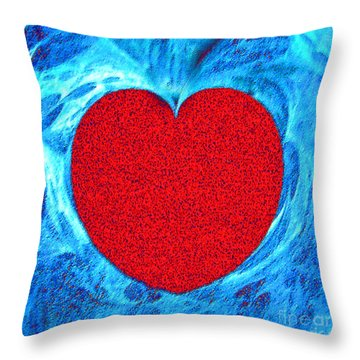 At The Heart Of The Matter Throw Pillow by Merton Allen