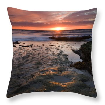 At The Horizon Throw Pillow by Mike  Dawson