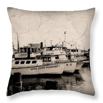 At The Marina - Jersey Shore Throw Pillow