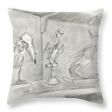 Bird Skeletons Throw Pillow
