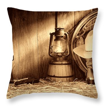 At The Old Ranch Throw Pillow