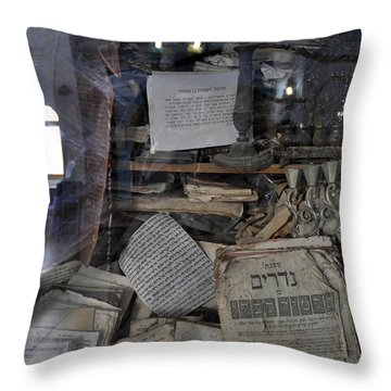 Throw Pillow featuring the photograph At The Old Tample Of Safed  by Dubi Roman