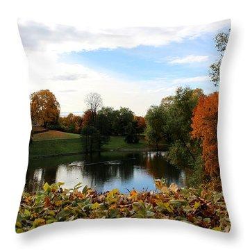 At The Park Throw Pillow