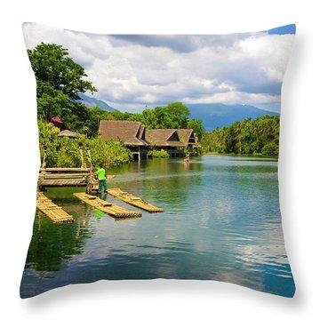 At The Plantation Throw Pillow