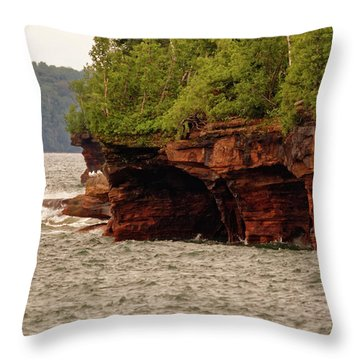 At The Point Throw Pillow
