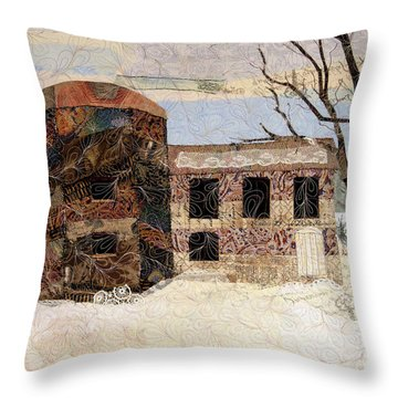 At The River's Edge Throw Pillow