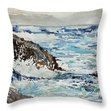 At The Rocks Throw Pillow by Monte Toon