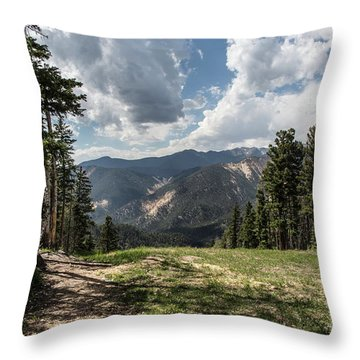 At The Top Of The Run Throw Pillow