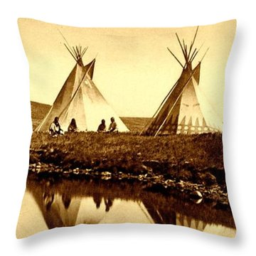 At The Waters Edge 1910 Throw Pillow