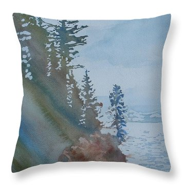 At The Water's Edge Throw Pillow by Jenny Armitage