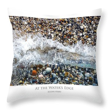 Throw Pillow featuring the digital art At The Waters Edge by Julian Perry