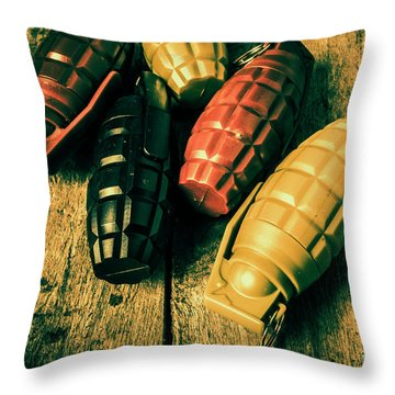 At The Wooden Armoury Throw Pillow