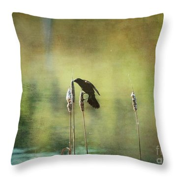 At This Moment Throw Pillow by Aimelle