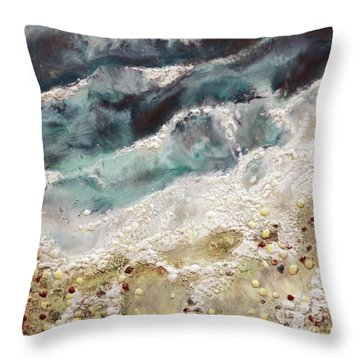 At Water's Edge Iv Throw Pillow