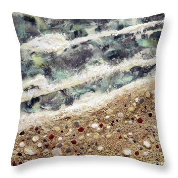 At Water's Edge Throw Pillow by Laurie Tietjen