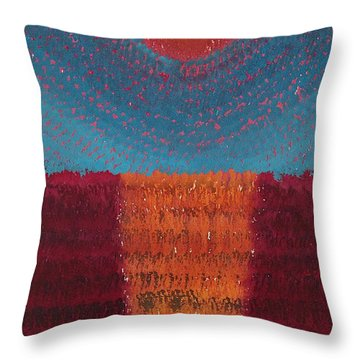 At World's Beginning Original Painting Throw Pillow