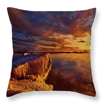 Throw Pillow featuring the photograph At World's End by Phil Koch