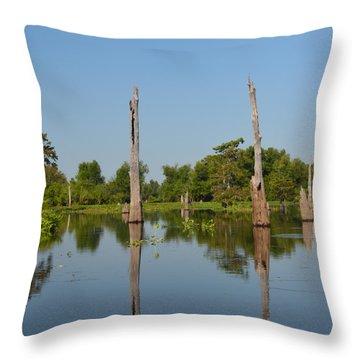 Atchafalaya Basin 19 Throw Pillow by Maggy Marsh