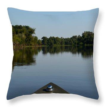 Atchafalaya Basin 6 Throw Pillow by Maggy Marsh