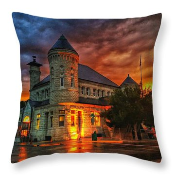 Atchison Post Office  Throw Pillow by Dustin Soph
