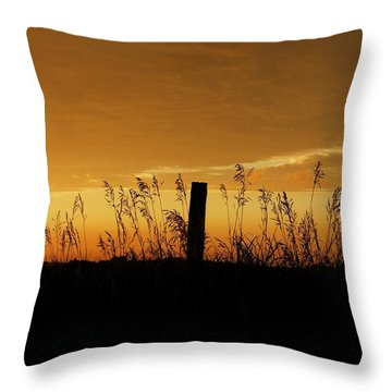 Atchison Sunset Throw Pillow by Dustin Soph