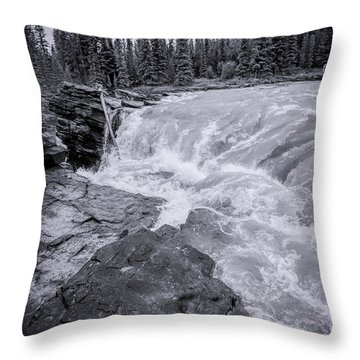 Athabasca Falls Throw Pillows