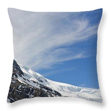 Athabasca Glacier Throw Pillow
