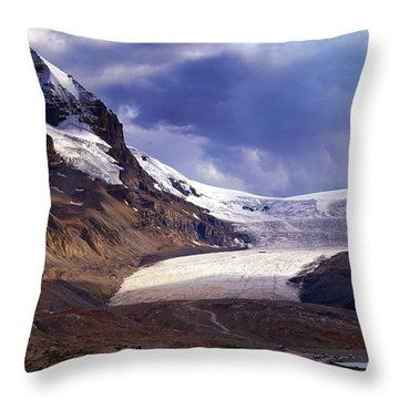 Athabasca Glacier Throw Pillow