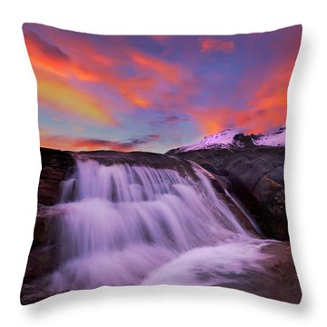Athabasca On Fire Throw Pillow by Dan Jurak