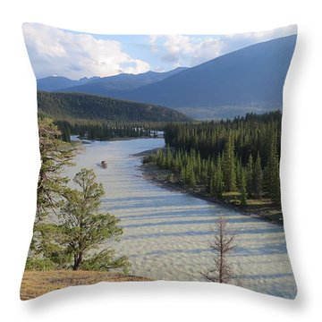 Athabasca River - Jasper Throw Pillow