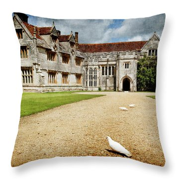 Athelhamptom Manor House Throw Pillow