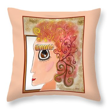 Athena In The Mirror Throw Pillow
