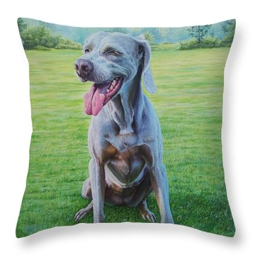 Throw Pillow featuring the painting Athena by Mike Ivey