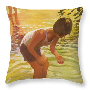 Athena Wading Throw Pillow