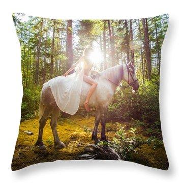 Athena's Radiance Throw Pillow