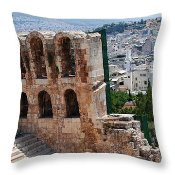 Athens From Acropolis II Throw Pillow