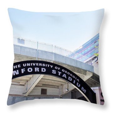 Throw Pillow featuring the photograph Athen's Ritual by Parker Cunningham