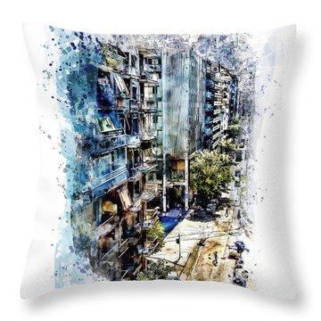 Athens Street Throw Pillow