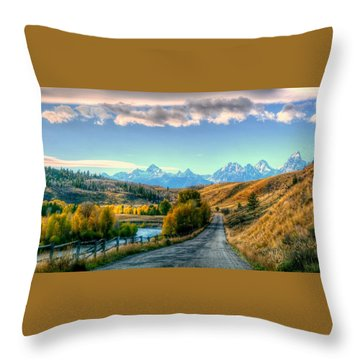 Atherton View Of Tetons Throw Pillow