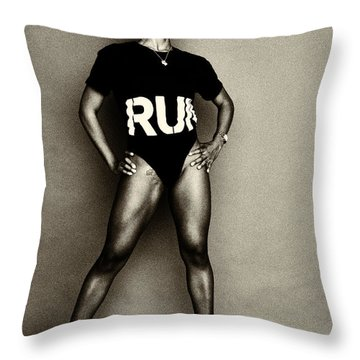Athletic Woman Throw Pillow