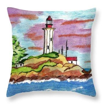 Atkinson Point Lighthouse Throw Pillow
